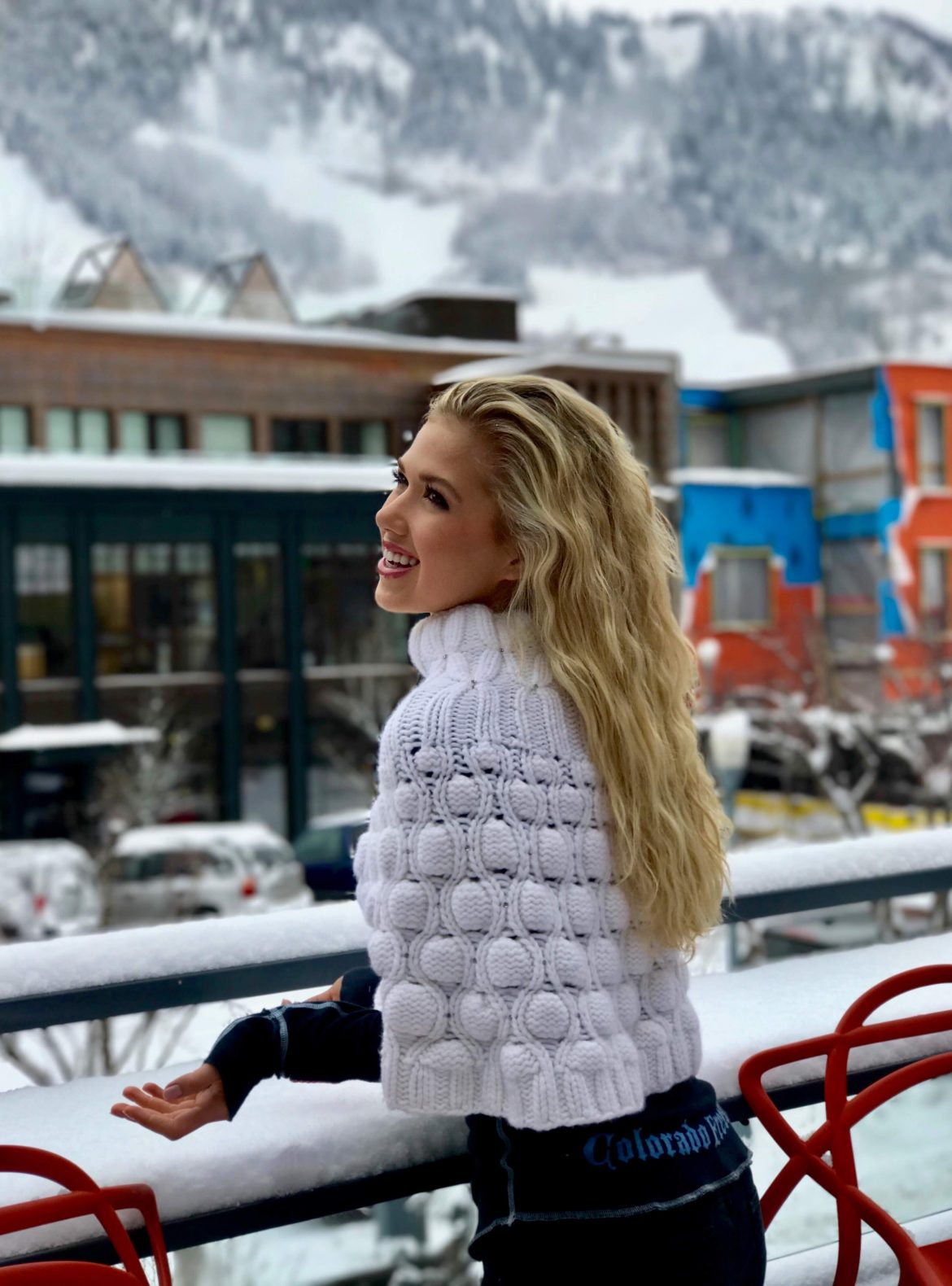 Gracie Hunt, Beautiful Girl, Winter White, Mountains, Snow