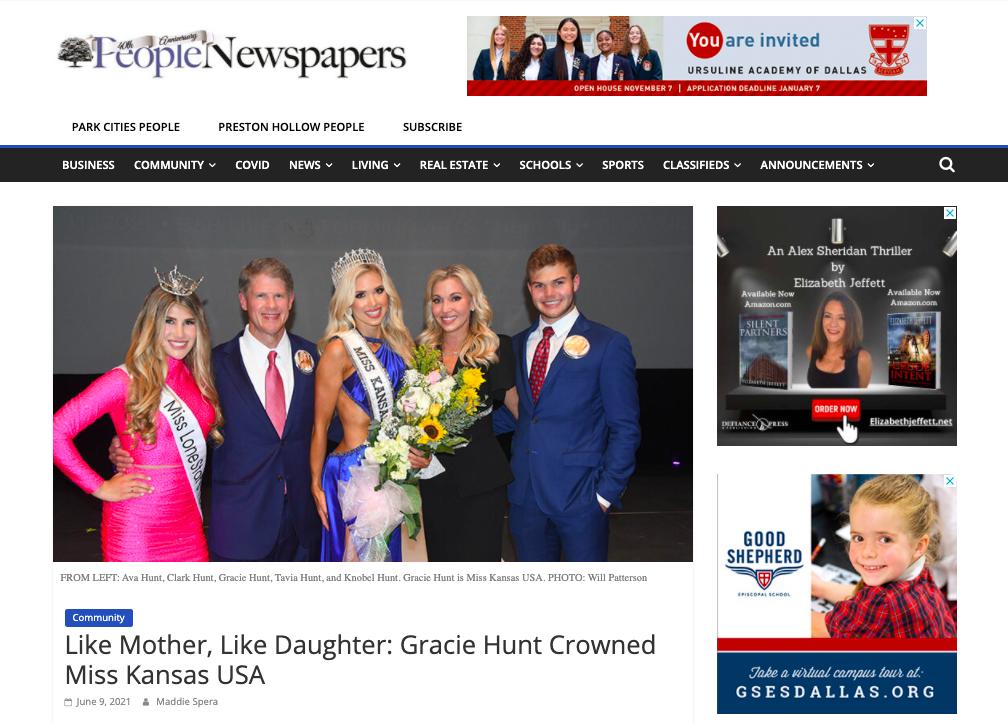 Press-Gracie Hunt People Newspaper